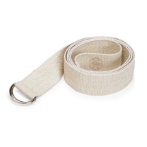 Cotton Yoga Strap w/D Ring - Natural
